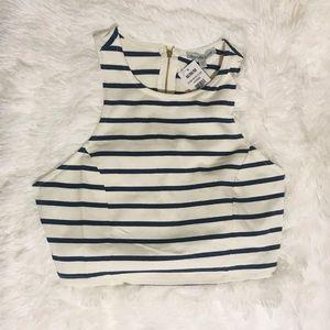 Charlotte Russe Stripe Crop Top